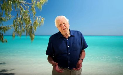 Sir David Attenborough, as he appears while introducing the interactive website